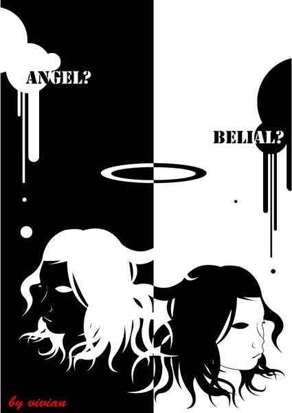繪圖 - 天使惡魔
