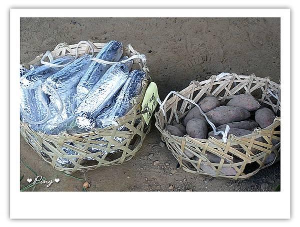 焢窯必備~地瓜,雞腿,玉米
