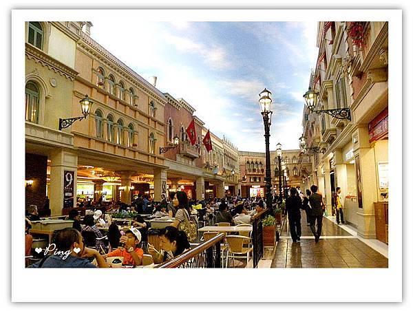 威尼斯人酒店內的美食廣場