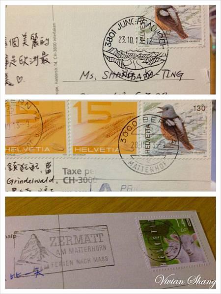 瑞士 明信片郵戳