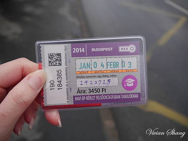 Monthly Budapest pass for student