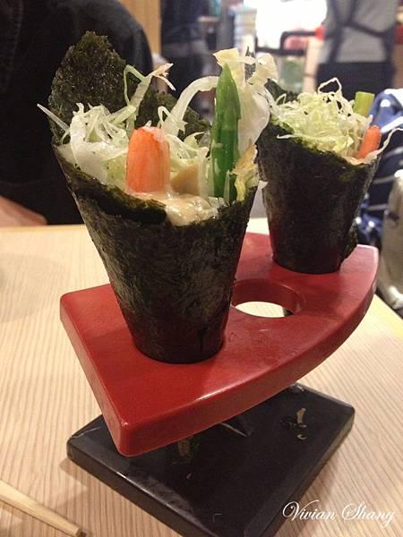 套餐附蘆筍鮮蝦手卷