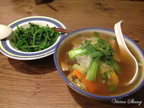 羊排肉骨茶&燙青菜