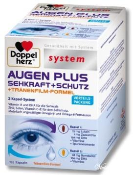 DOPPELHERZ SYSTEM AUGEN PLUS SEHKRAFT + SCHUTZ (120 KAPSELN)