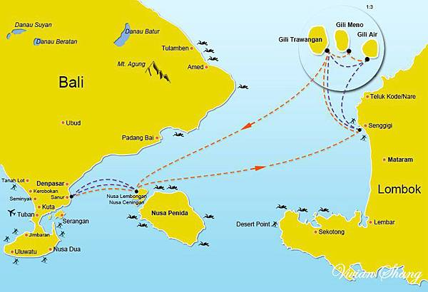 Bali Lombok Map