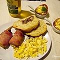 烤培根金針菇、炒蛋、培根小點