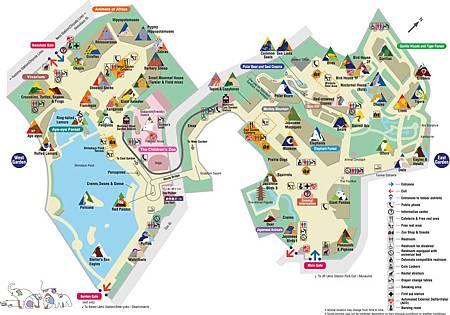 上野動物園地圖