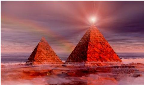 金字塔--太空神秘光子雲的能量傳輸