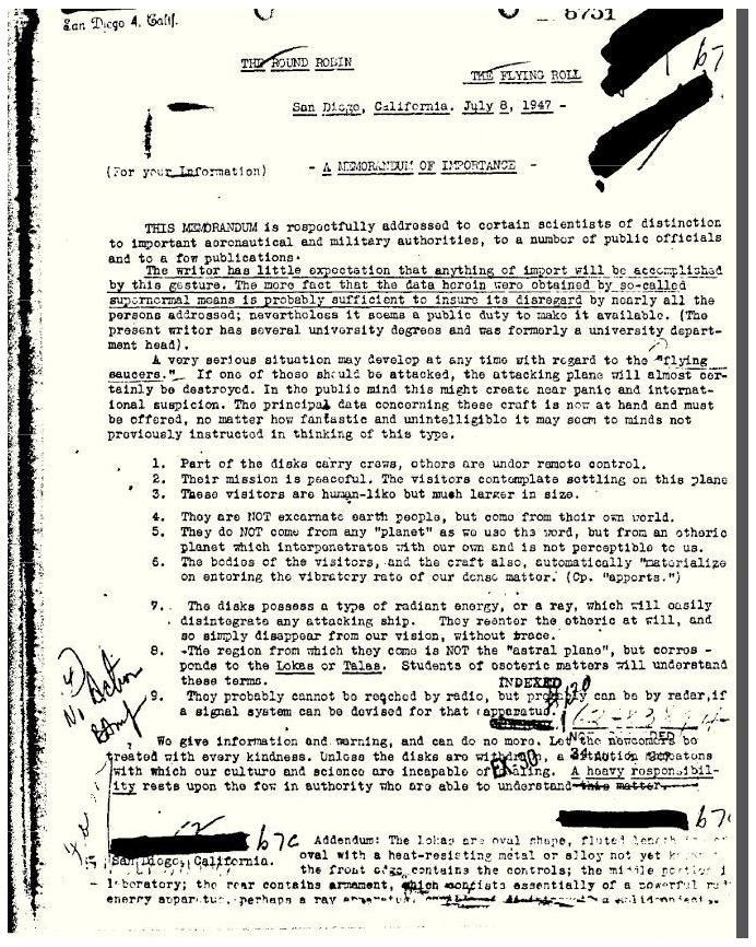 FBI文件說人型外星人真的存在還想住在地球