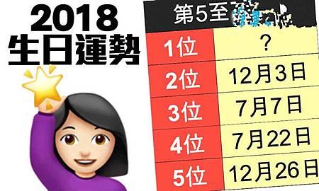 2018生日運勢排名曝光!414好運爆表 吊車尾是…