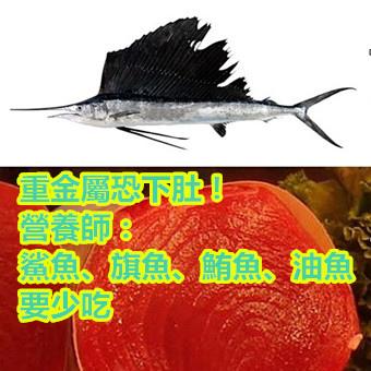 重金屬恐下肚!營養師:鯊魚、旗魚、鮪魚、油魚要少吃