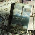 六月的鐵塔復古風格明信片