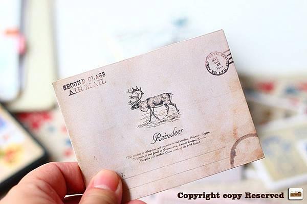 歐洲復古風情小信封(一套12枚入)