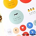 小清新圓形標語裝飾貼紙