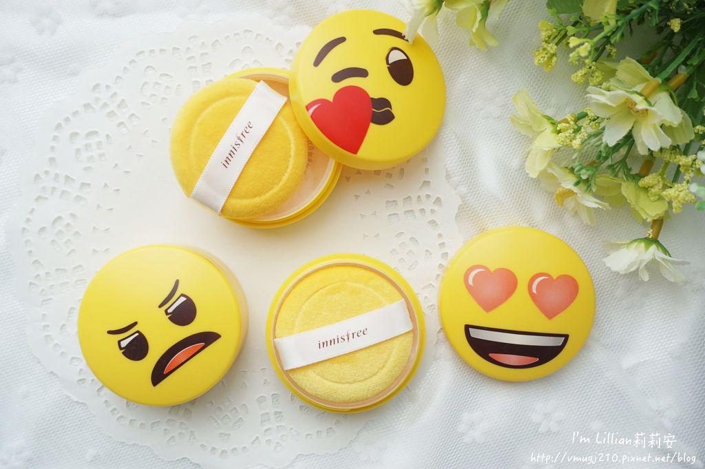 韓國美妝推薦innisfree 無油無慮礦物控油蜜粉Emoji限定版10蜜粉推薦 莉莉安.JPG