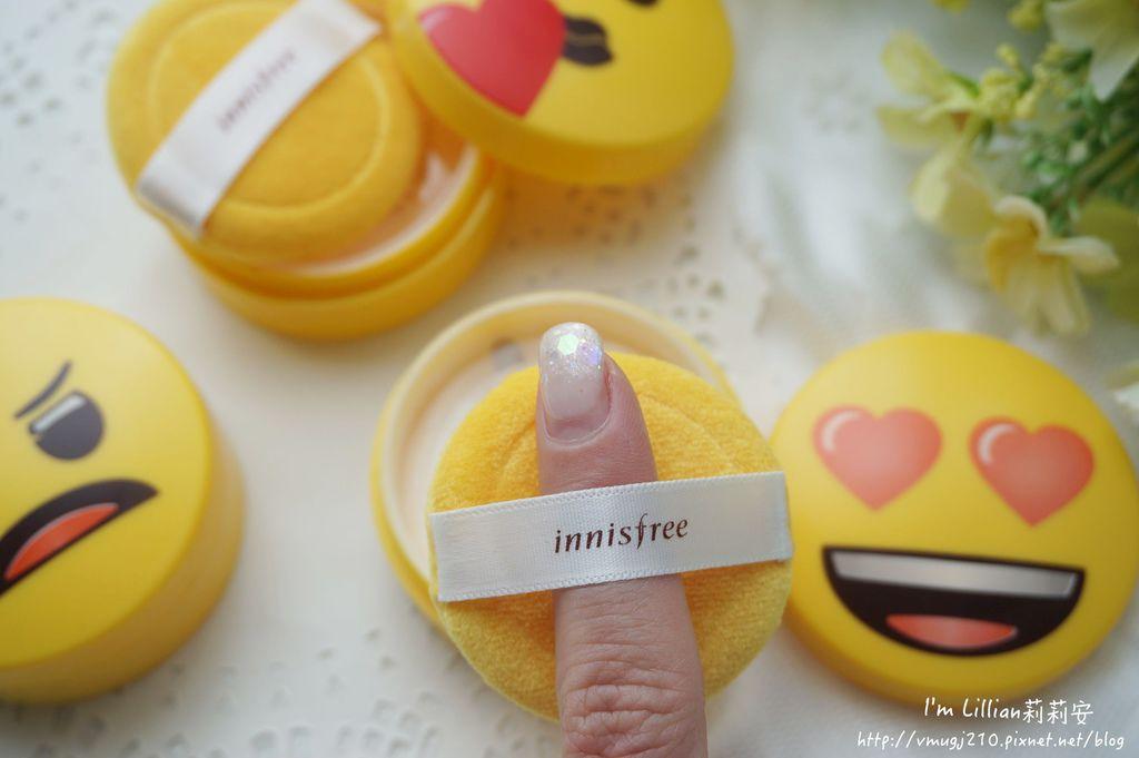 韓國美妝推薦innisfree 無油無慮礦物控油蜜粉Emoji限定版16蜜粉推薦 莉莉安.JPG