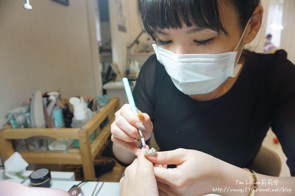 台北東區光療指甲推薦 台北大安美睫55海藍寶石.JPG