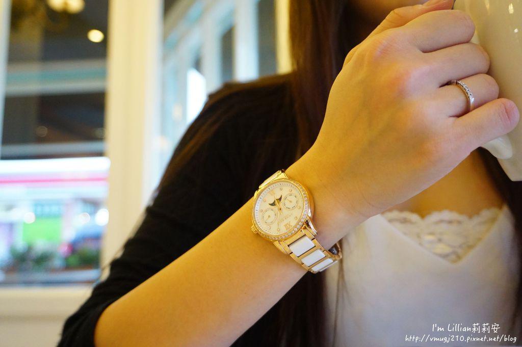 石英手錶推薦  施華洛世奇水鑽61Aries Gold LUNA 58010.JPG