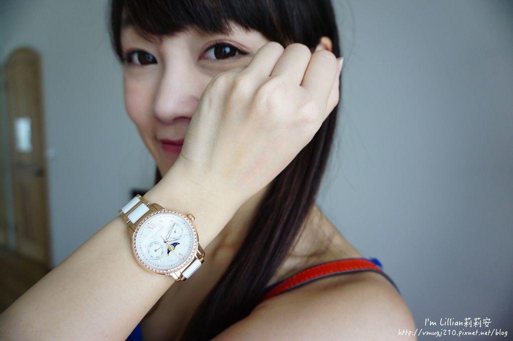 石英手錶推薦  施華洛世奇水鑽13Aries Gold LUNA 58010.JPG