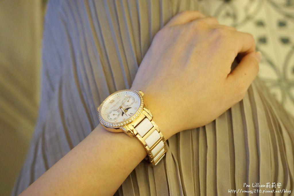 石英手錶推薦  施華洛世奇水鑽98Aries Gold LUNA 58010.JPG