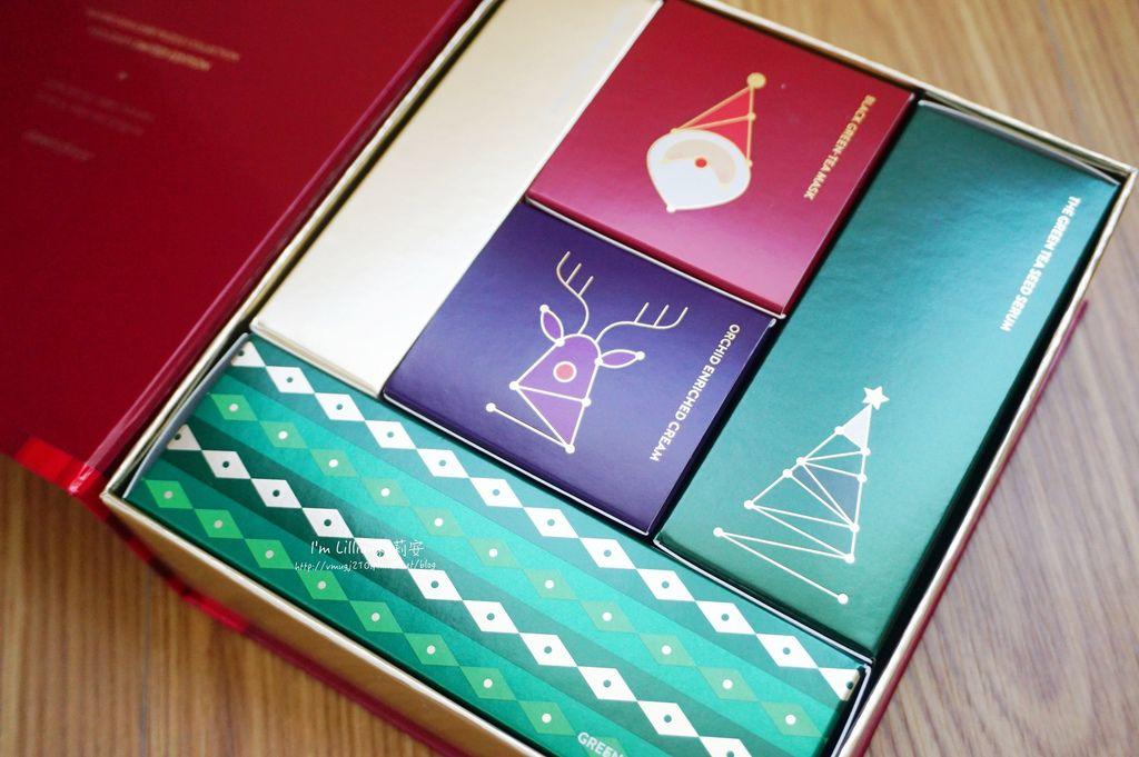 innisfree 聖誕節限量禮盒57火山泥膜 綠茶籽保溼精華.JPG
