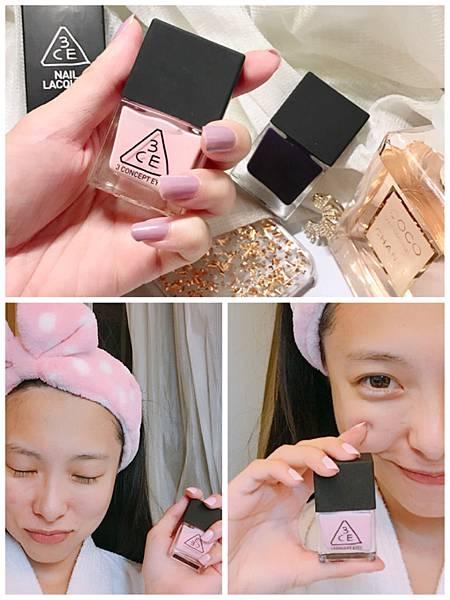 【指甲】韓國3CE。少女粉紅泡泡,高飽和顯色指甲油 試擦分享