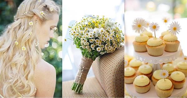 打破傳統,小雛菊是義大利國花啦!舉辦一場小雛菊婚禮