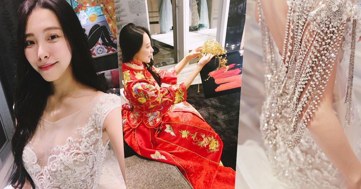 在華納婚紗試穿處女秀「中式新娘裝」和「12代施華洛世奇水晶婚紗」