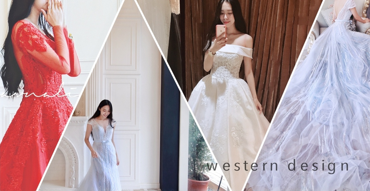 婚紗試穿。西敏英式手工婚紗「粉蝶花藍海婚紗」先感受春天氣息~~