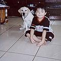 兩兄弟,攝於2005/10/12,林享諭當時5歲林Miru當時4個月剛到我家兩個月