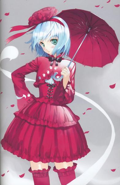 moe 66107 binding_discoloration konpaku_youmu lolita_fashion thighhighs touhou ueda_ryo.jpg