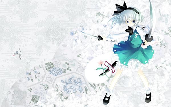 moe 101769 hiiragi_ryou konpaku_youmu sword touhou wallpaper.jpg