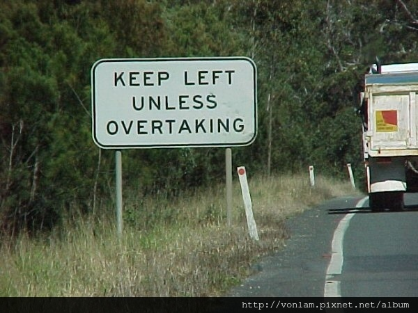 keepleftunlessovertaking
