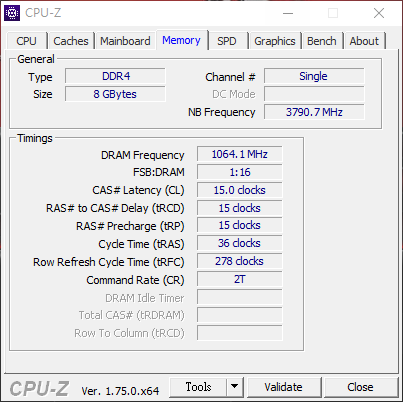 CPUID DDR4 Single.png