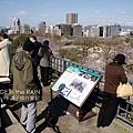 福岡城瞭望台上