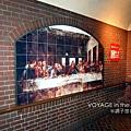 地鐵站「最後的晚餐」壁畫