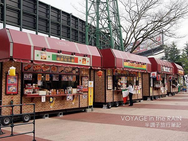 很有中國風的食品攤位