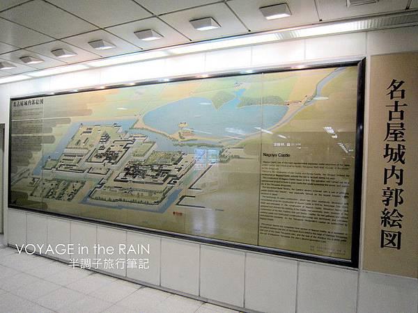 地鐵站內的名古屋城郭圖