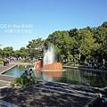 公園的噴水池