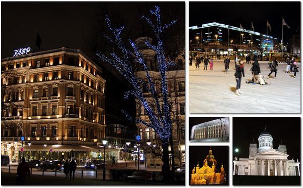 漫步在夜晚的赫爾辛基