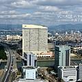 福岡巨蛋被海鷹飯店擋住了