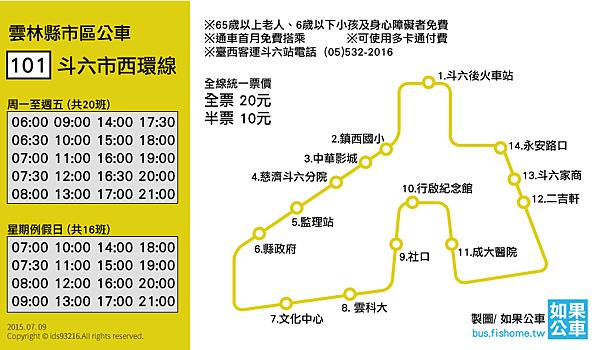 斗六公車地圖