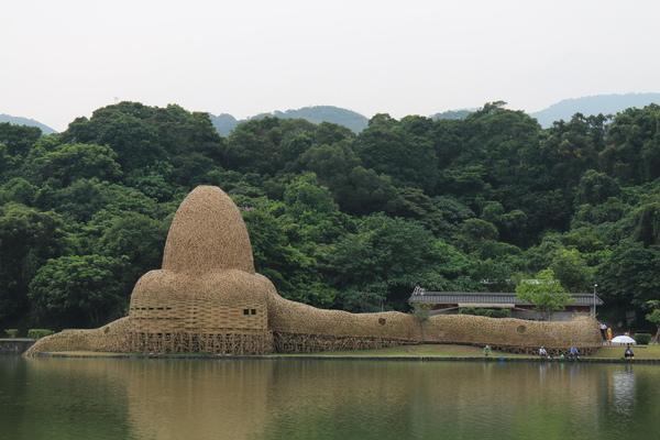 碧湖公園:4千根竹子編成! 內湖夢幻新地標「碧湖織屋」
