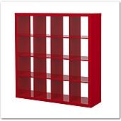16格櫃紅色