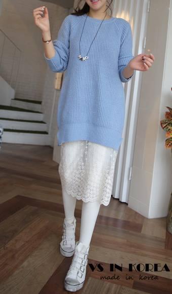 蕾絲裙白色