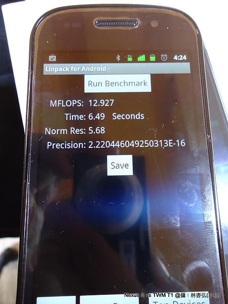 Nexus S Linpack