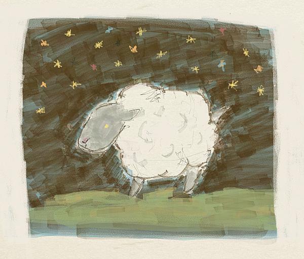 黑面羊  星空