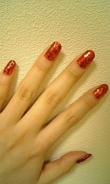 我的紅色指甲新裝