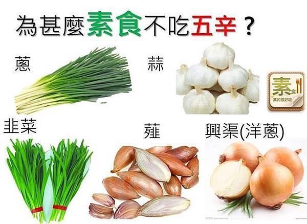 何謂植物五辛(蔥、蒜、韭、薤及興渠)