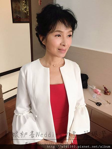 媽媽妝髮範例-優雅盤髮 台北新娘秘書Wedding女皇